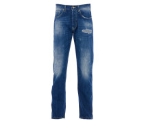 SAMSON Jeans Regular Fit Used Blau