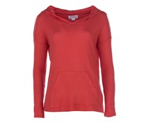 ALONA Strickpullover mit Kapuze in Rot