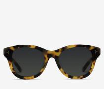 Runde Sonnenbrillen In Schildpatt-Optik Braun