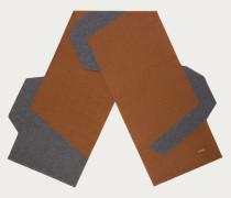 Strickschal Mit Asymmetrischem Blockfarbendesign Multicolor