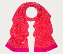 Wollschal Mit Maze-Muster Pink