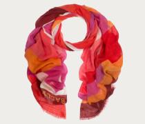 Wollschal Im Blockfarbendesign Orange