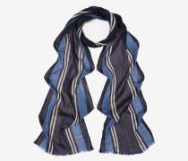 Jacquard-Schal Mit Trainspotting-Streifen Blau
