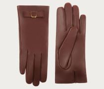 Handschuhe Aus Nappaleder Mit Bally-Schleife Brown