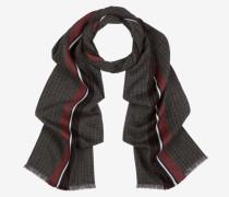 Schal Mit Streifen Und Karos Rot