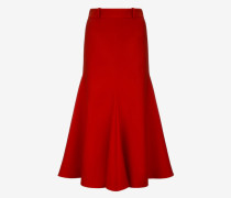 Wool Mermaid Skirt Orange