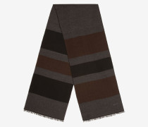 Schal Mit Streifen Grau