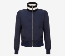 Trainingsjacke Aus Nylon Blau
