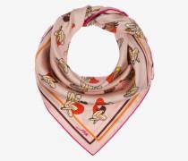 Halstuch Mit Sweetheart-Printdesign Rosa