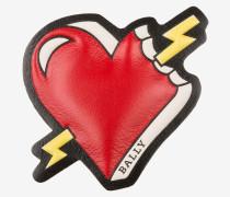 Herz-Sticker Aus Leder WeiB
