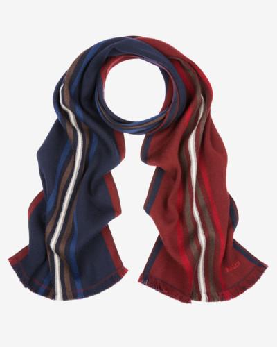 Doppelseitiger Schal Mit Streifen Mehrfarbig