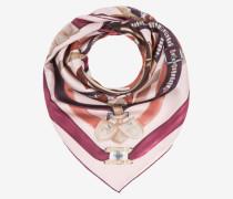 Carré-Tuch Mit Bally-Gürtel-Printdesign Rosa