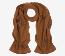 Schal Mit Aufgesticktem Logo Braun