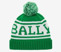 Gestrickte Baumwollmütze Grün