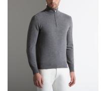 Pullover Mit ReiBverschlusskragen Grey