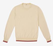 Pullover Mit Bally-Streifen Weiß