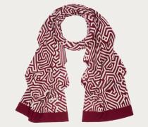 Wollschal Mit Maze-Muster Red