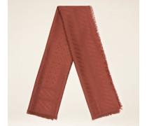 Schal Mit Monogramm Rot
