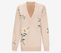 Pullover Mit EdelweiB-Stickerei Rosa