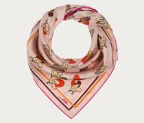 Halstuch Mit Sweetheart-Printdesign Pink