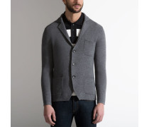Strickblazer Mit Button-Down-Kragen Grey