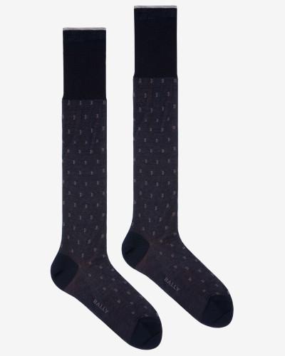 """Lange Klassische B""""-Socken Mehrfarbig"""