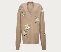 Pullover Mit Gebirgsblumen-Design Brown