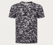 T-Shirt Mit Rundhalsausschnitt Und Notebook-Print Black