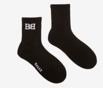 Socken Mit Bb-Motiv Schwarz