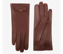 Handschuhe Aus Nappaleder Mit Bally-Schleife Braun