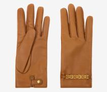 Handschuhe Mit Bb-Motiv Braun