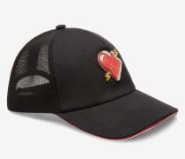 Baseballmütze Mit Herzaufnäher Schwarz
