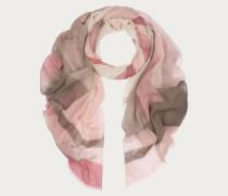 ÜbergroBer Schal In Blockfarben Pink