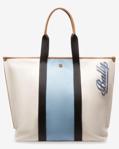 Bally Damen MittelgroBer Shopper Aus Canvas Braun