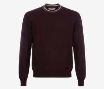 Pullover Mit Rundhalsausschnitt Und Kontrastkragen Burgundy