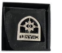 Second Hand Brosche aus Stahl in Silbern