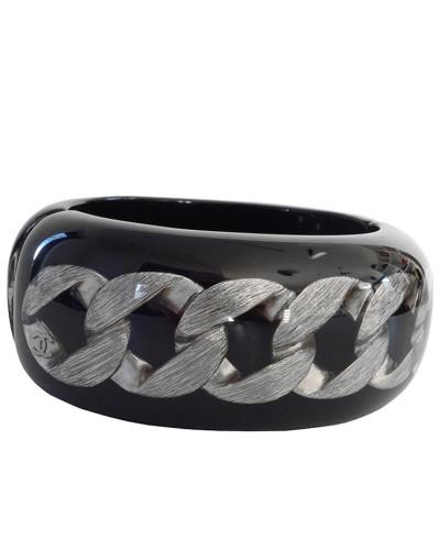 Second Hand  Armband Acrylglas mit einer Silberkette