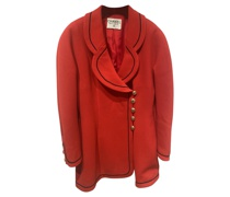 Second Hand Jacke/Mantel aus Wolle in Rot