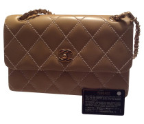 """Second Hand """"Classic Flap Bag"""" in Braun"""