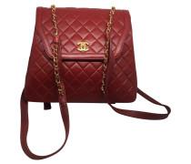 Second Hand Tasche aus rotem Leder