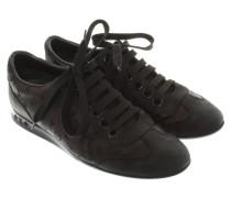 Second Hand Sneaker aus schwarzem Leder