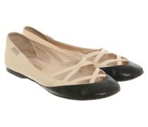 Second Hand Slipper/Ballerinas aus Leder