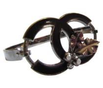 Second Hand CHANEL CC Logo, Beeren & Blätter Armband silberfarben