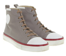 Second Hand  High Top Sneakers in Taupe