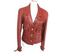 Second Hand Jacke/Mantel aus Leder in Rot