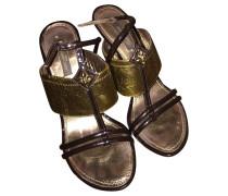 Second Hand Sandaletten mit Keilabsatz