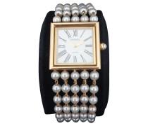 Second Hand Mademoiselle Uhr mit Perlen