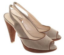 Second Hand  Slingpumps aus Wildleder