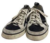 Second Hand Sneakers aus Baumwolle in Blau
