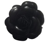 Second Hand Schwarze Blumenbrosche
